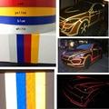 Alta calidad pegatinas de coche reflexivo cinta cuerpo Fácil de DIY decoración de la etiqueta