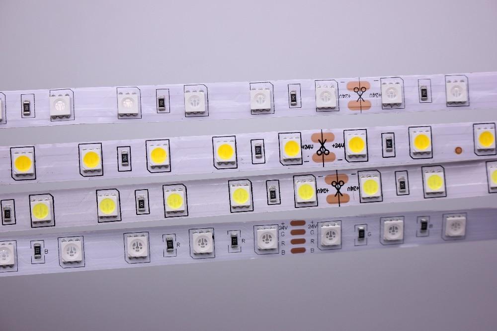 HTB1F0NnzOCYBuNkSnaVq6AMsVXae SMD 5050 RGB LED Strip Waterproof 5M 300LED DC 12V 24V CCT RGBCCT  RGBW RGBWW WHITE WARM WHITE Fita LED Light Strips Flexible