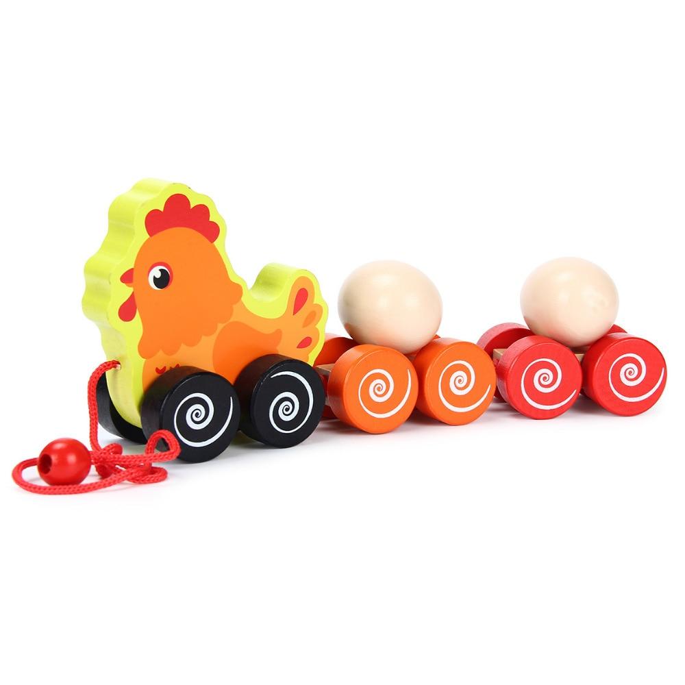 Hen Trailer Toys For Children Wooden Toys Kids Educational