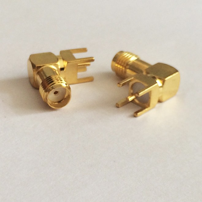 1pc SMA Connector SMA Female Jack  RF Coax Connector  Right Angle PCB  Cable  Goldplated  NEW  wholesale