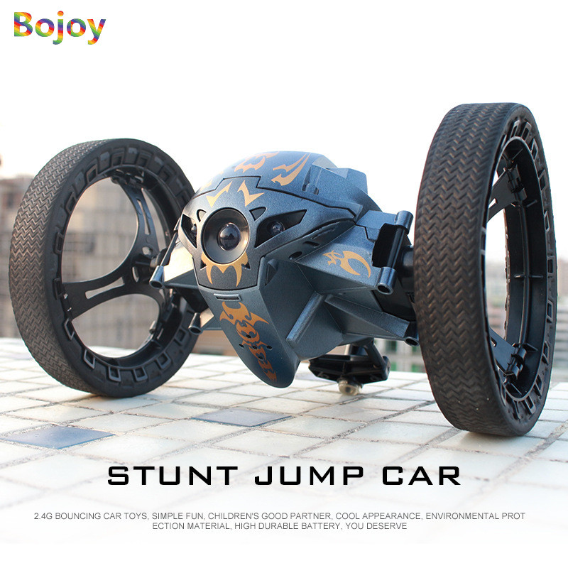RC Car Bounce Car 2.4G Remote Control Toys Jumping Car with Flexible Wheel Rotation LED Night Lights RC Robot Car for boy gift цена 2017