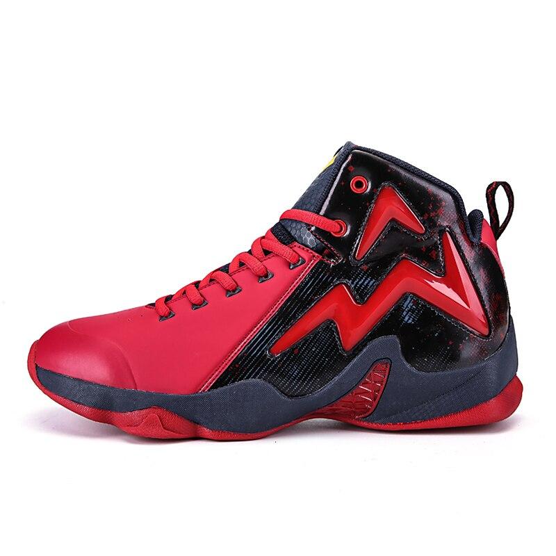 e6133934449 Nuevos zapatos de baloncesto hombres zapatillas LeBron James zapatos alto  Top encaje hasta tobillo zapatos air cushion Basket Homme baloncesto en  Zapatos de ...