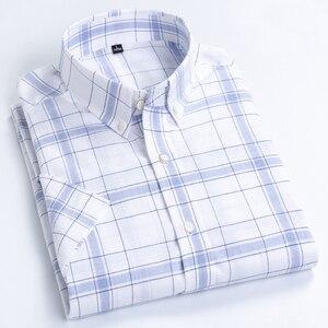 Image 3 - MACROSEA เสื้อลำลองผู้ชาย Leisure ออกแบบลายสก๊อตคุณภาพสูงผู้ชายสังคม 100% เสื้อผ้าฝ้ายแขนสั้นผู้ชายเสื้อ BLN