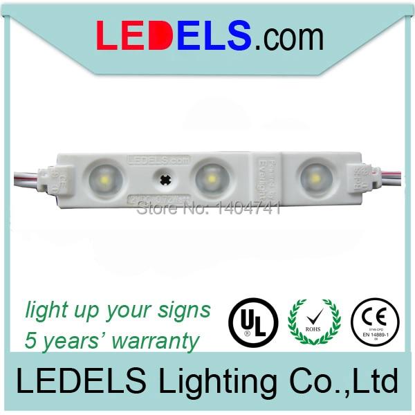 100 шт./лот CE RoHS светодиодный модуль 12 В 0.72 Вт 66lm tipos De LED Para carteles publicitarios водонепроницаемый знак светодиодный