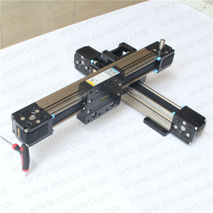 High speed low vibration guideway stable motion Belt drive linear actuator motion stage slide high rigidity roller type wheel linear rail smooth motion belt drive guide guideway manufacturer