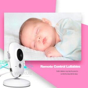 Image 4 - Wideo bebe niania elektroniczna Baby Monitor VB603 2.4G bezprzewodowy 3.2 cali LCD 2 Way rozmowy Audio Night Vision niania wideo baba eletronica babyfoon