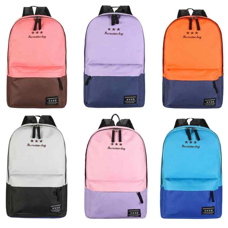 Fashion Children Girl Students Backpack Leisure Splicing Shoulder BagTravel  Sports Laptop School Book Daypack Waterproof School d78bfef330c9b
