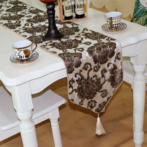 High Quality Luxury Velour Soft Flower Bronzing Retro Tea Dining - Home Textile - Photo 1