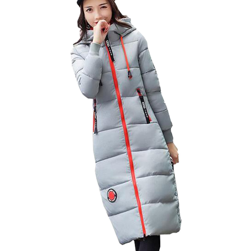 2017 New Winter Long Hooded Women Cotton Coat Thick Slim Wadded Jacket Padded Female Parkas Outerwear Cotton Coats PW1000 wadded cotton jacket 2017 new winter long parkas hooded slim coat pattern designs thick warm coat plus sizes female outwears