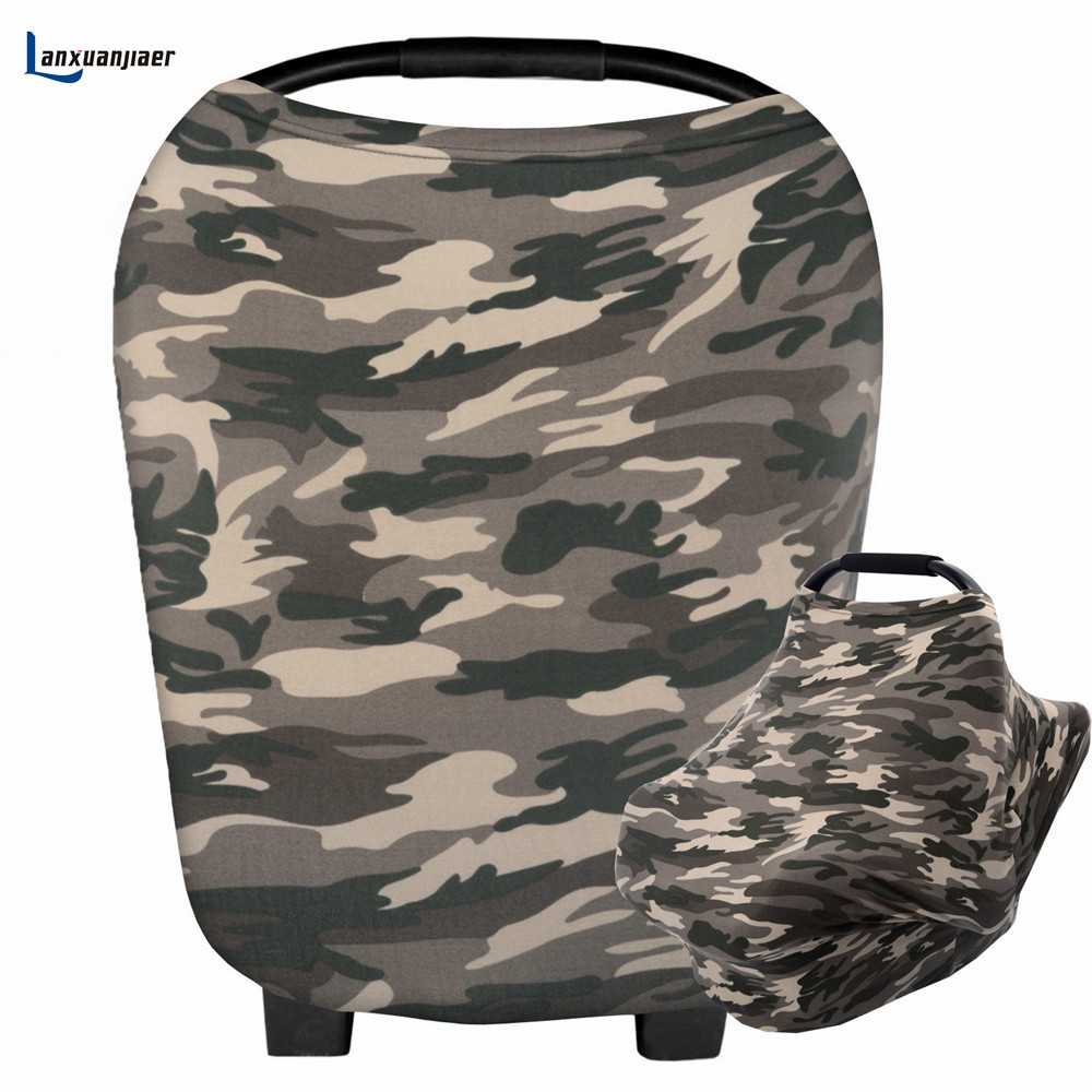 Nursing Cover Breastfeeding Scarf Printed Camouflage For