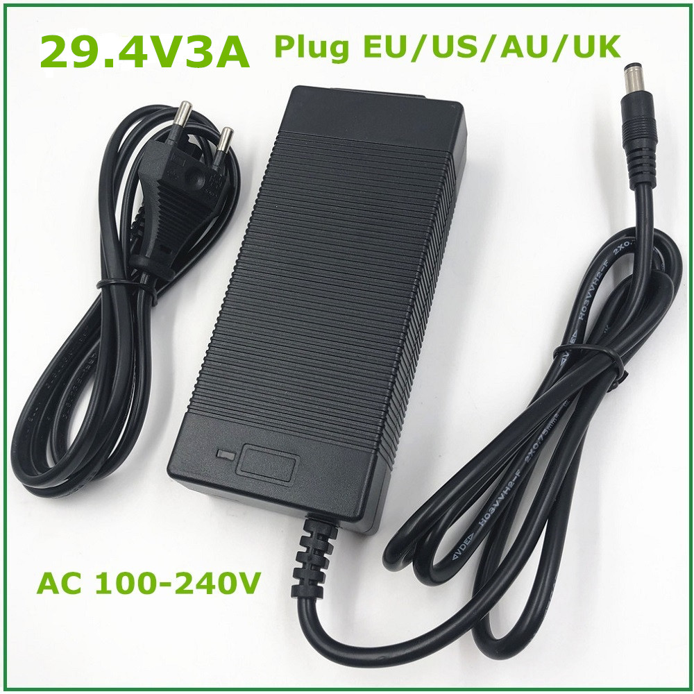 Accessories & Parts Ingenious New High Quality 29.4v 3a Electric Bike Lithium Battery Charger For 24v 3a Lithium Battery Pack Dc Plug Connector Charger