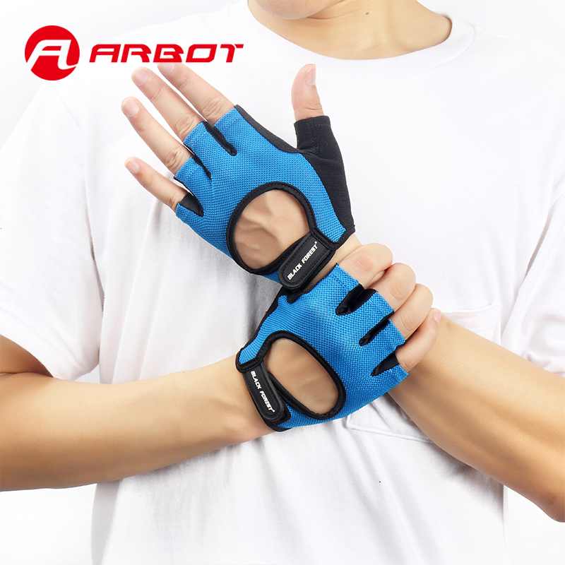 Neue Fitness Gewichtheben Gym Glove Männer Frauen Atmungsaktive Übung Luvas Handschuhe Half Finger Training Handgelenk Handschuhe für Sport