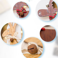 Christmas Deer Wooden Pendants Ornaments for Xmas Tree DIY Ornament Christmas Party Decorations Kids Gift hanging drop ornaments 6