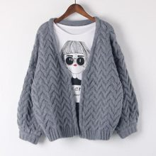 2017 new Autumn Winter quick Cardigan Sweaters Women knitted Sweater Coat Fall Warm Thick Poncho Jacket Oversized Jumper QH0407
