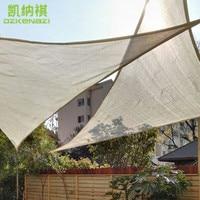 2 PCS/Lot 3 x 4 x 5 M Right angle Patio Shade Sails with free ropes used as balcony shade net