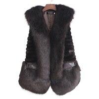 High Quality Women Faux Fur Waistcoat Plus Size S XXL Lady Winter Keep Warm Russia Popular