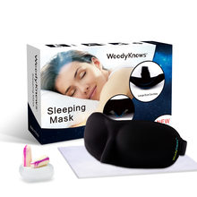 Super Soft Eye Mask for Travel Sleep Sleeping Rest Aid Relaxer Eye Cover Patch Case Eye shade Blinder Blindfold Woodyknows