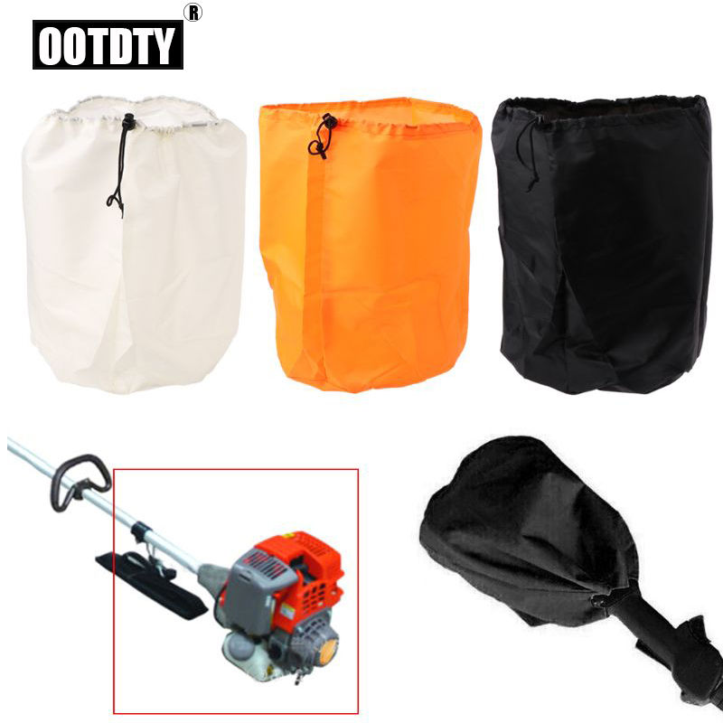 OOTDTY Nylon Trimmer Engine Cover Waterproof Dustproof Cover For Grass Trimmer Edger Pole Saw Accessories Kit