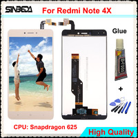 Sinbeda 5 5 LCD For Xiaomi Redmi Note 4X LCD Display Touch Screen Glass Digitizer Assembly