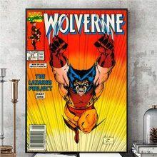 Wolverine vintage obras de arte em quadrinhos cartazes e impressões arte da parede quadro decorativo pintura em tela para sala estar decoração casa