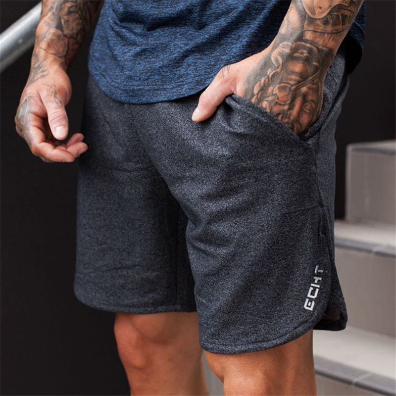 2019 New Men Sporting Beaching Shorts Trousers Cotton Bodybuilding Sweatpants Fitness Short Jogger Casual Gyms Men Shorts