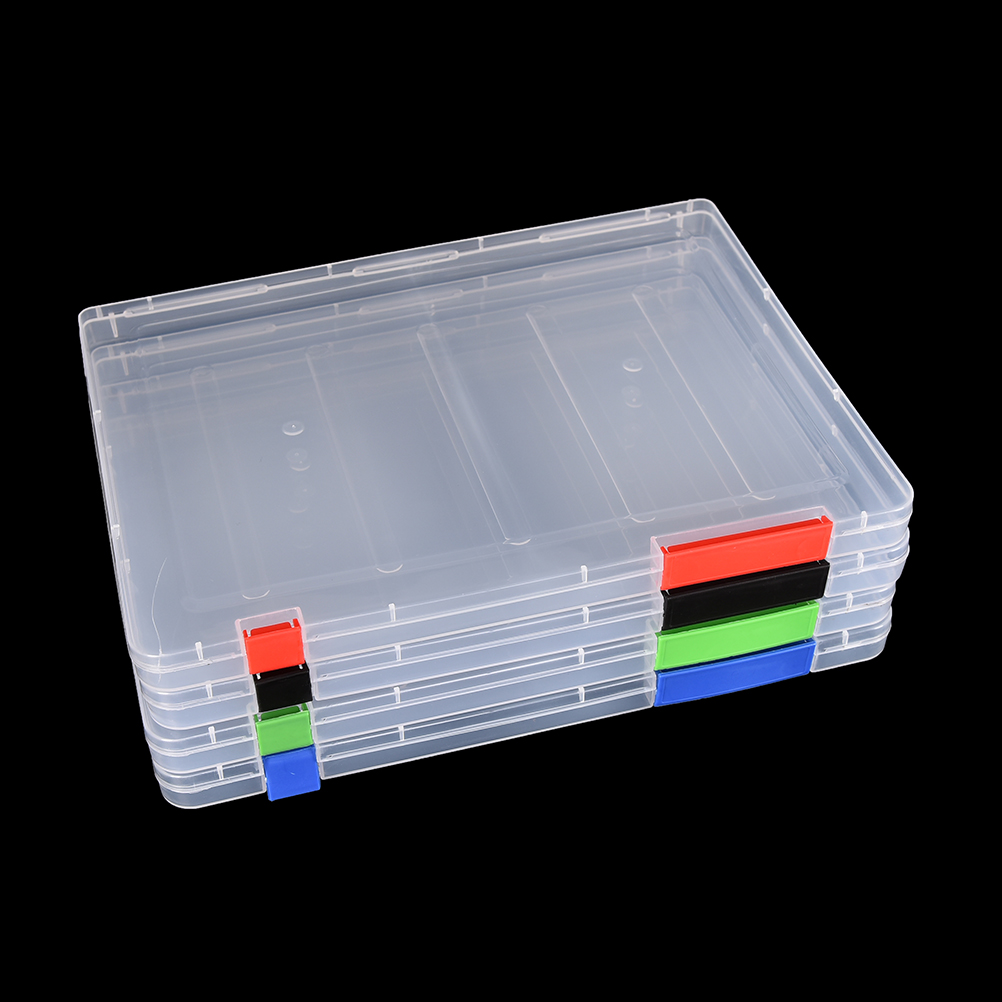 Durchsichtige Box Us 5 69 3 Colors A4 Transparent Storage Box Clear Plastic Document Paper Filling Case File Pp Office Organizer Invisible Storage Cases In File Tray