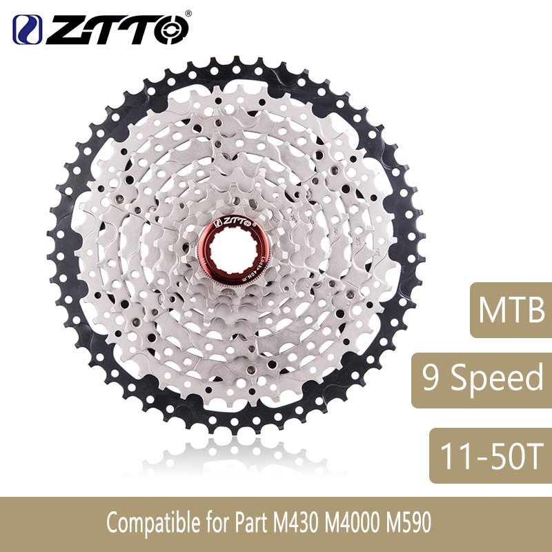 Mountain Bike 9 Speed Cassette 9s 50T Wide Ratio MTB Bicycle 9S Freewheel Compatible with M430 M4000 M590 533g ZTTO цены онлайн