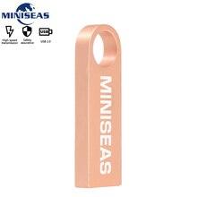Chống Nước Kim Loại Đèn LED Cổng USB 64GB Pendrive Ổ Bút U Đĩa USB Chìa Khóa Dính Nhớ USB Cle Usb MINISEAS