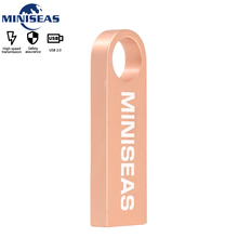 Su geçirmez Metal USB Flash sürücü 64GB pendrive kalem sürücü U Disk anahtar USB sopa USB bellek cle usb MINISEAS
