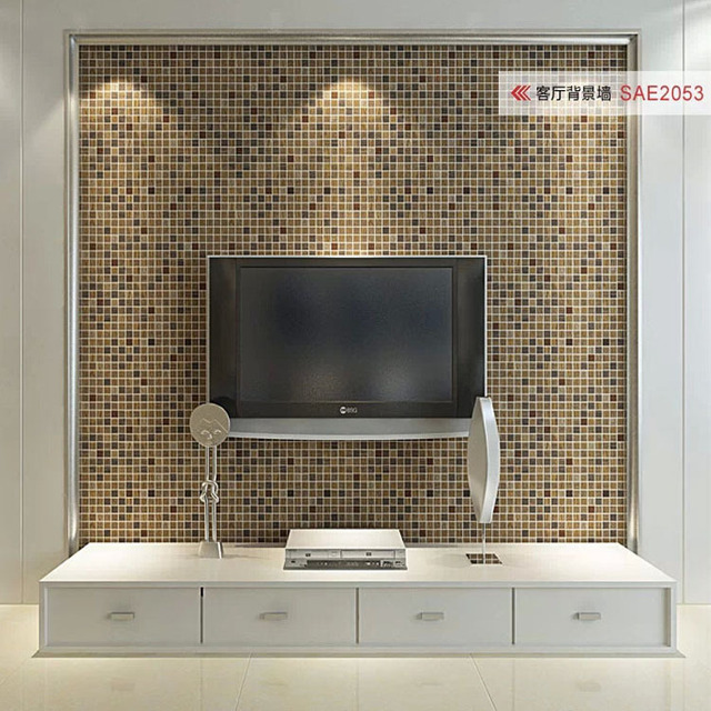 Looks Like Mosaic Luxury Wallpaper Rolls Simulation Small Tile Wall Paper Behang 3D Pedras Panel Papel