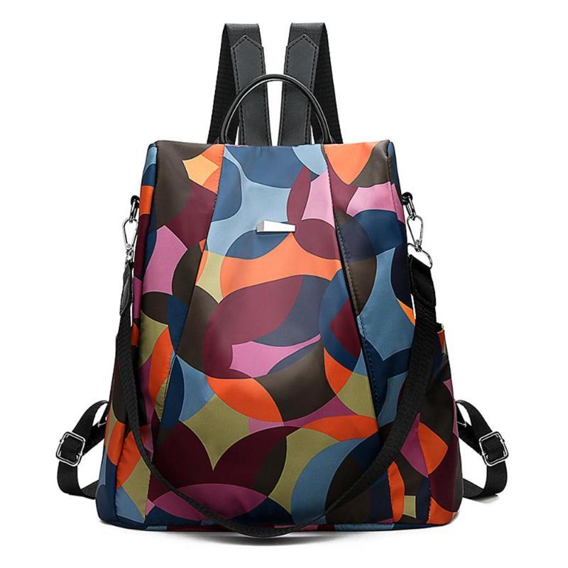 HTB1F0QAbozrK1RjSspmq6AOdFXai Casual Oxford Cloth Women Backpack Anti Theft Girls Schoolbags Teenager Travel Daypack Shoulder Bag Colorful Fashion Back Pack