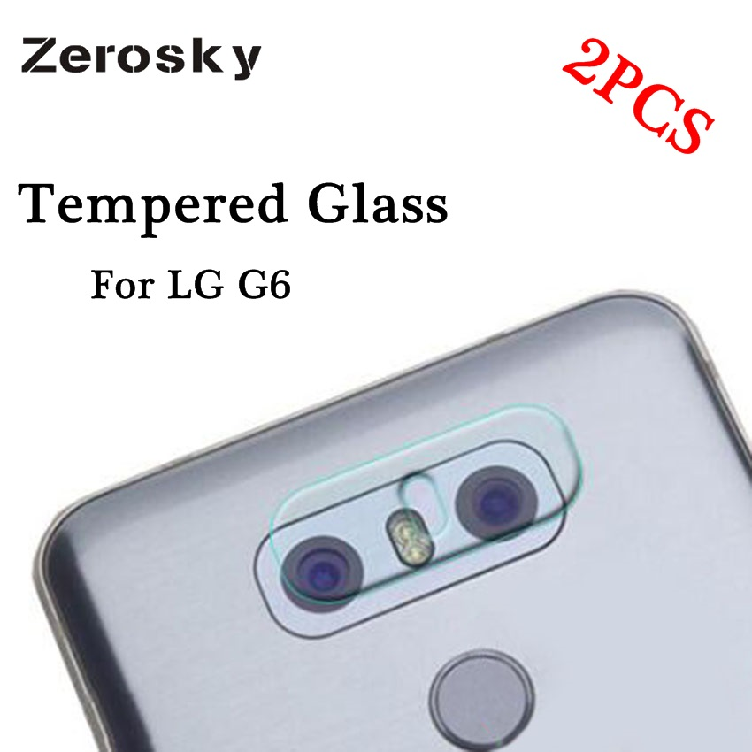 Zerosky 2PCS Back Camera Lens Transparent Clear Tempered Glass For LG G6 G600S H870 H870K H870S H870V Protector Protective Film