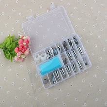 1 Set Cake Decoration Set 1 Bags 24 Nozzles 2 Converters DIY Icing Piping Cream Syringe Tips Muffin kitchen decorations