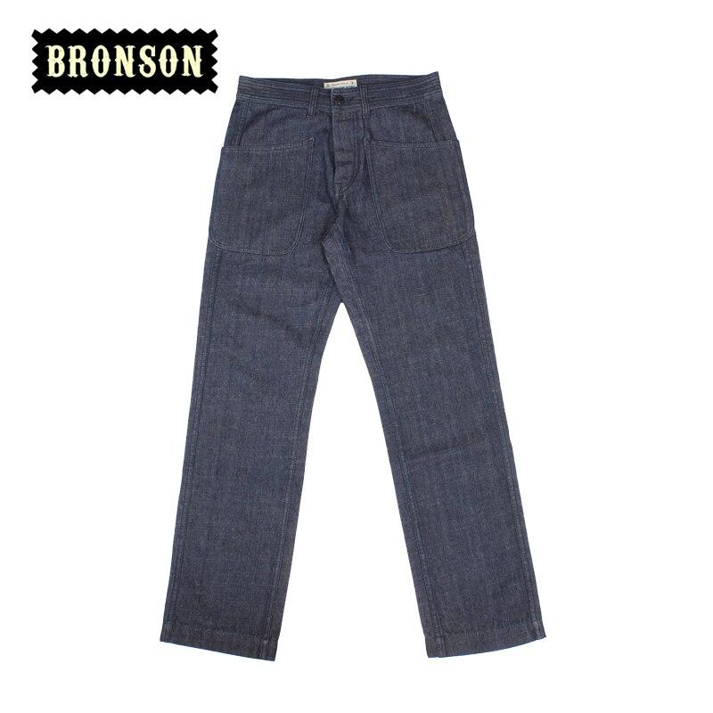 ФОТО New arrival 2016 12oz casual straight pants male usn vintage long trousers raw denim jean