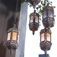 Moroccan Vintage Metal Hollow Home Wedding Decor Hanging Candle Holders Lantern
