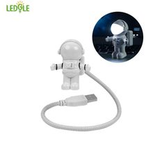 LEDGLE Creative Night Light Flexible Desk Lamp Bright Bedside Lamp for Reading and Lighting, White(China)
