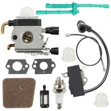 For STIHL FS76 FS85 75 Engine Carburetor Kit Fuel Filter Primer Bulbs Rubber Washers Grommet Air Filter Spark Plug engine parts 29 cc four fixed engine walbro carburetor ngk spark plug for 1 5 scale hpi rovan km baja 5b 5t 5sc