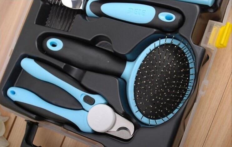 Ножницы и расческа набор инструментов для ухода за домашними животными для собак кошек щенков B0730A продукт - 5