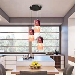Современный Стеклянный светодиодный подвесной светильник с покрытием роман красная роза лампа ресторанный потолочный свет украшения для