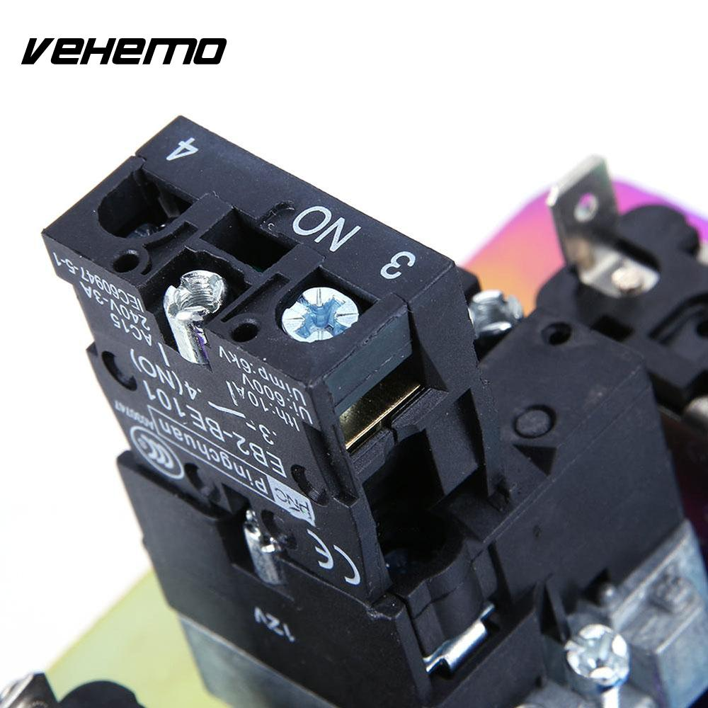 Vehemo Rainbow Ignition Switch Panel Racing Car Push Button Toggle Universal Power Off Switch Engine Start Durable Controls