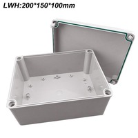 Free Shipping Electrical Cabinet ABS Plastic Enclosure 200 150 100mm Plastic Junction Box Waterproof Enclosure IP67