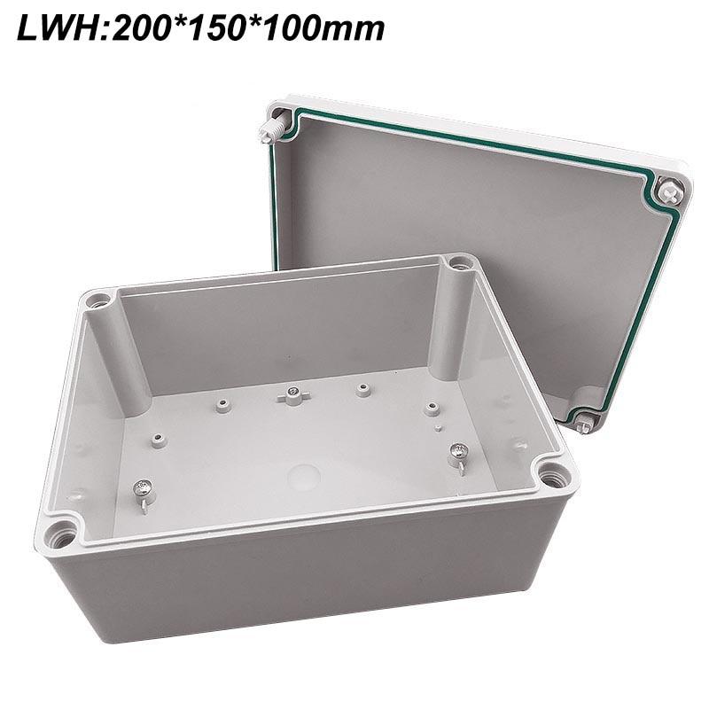 Free Shipping Electrical Cabinet ABS Plastic Enclosure 200*150*100mm Plastic Junction Box, Waterproof Enclosure IP67 IK08