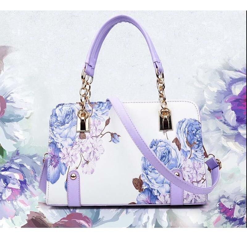 Nouvelles femmes sacs été impression fleurs dames designer sacs à main de haute qualité sac femmes messenger sacs pour femmes sac bandoulière