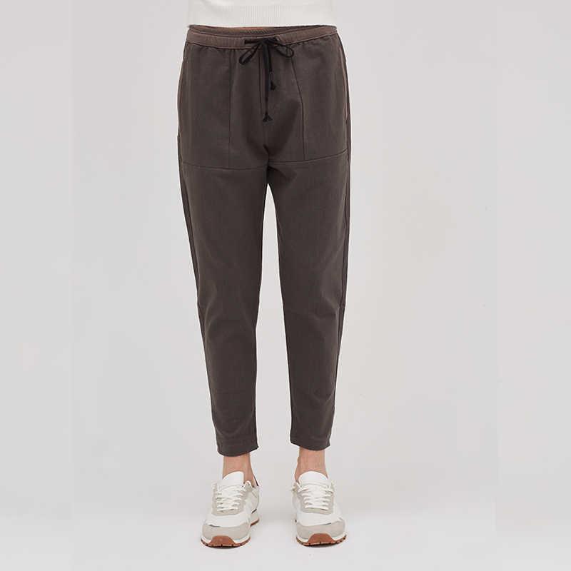 אספקת שירותי כותנה מכנסיים גברים 2018 סתיו אופנה מזדמן רופף מכנסי עיפרון בתוספת גודל S-3XL ארוך מכנסיים pantalon hombre CLA8825M