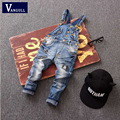 2016 Summer new children Denim Bib denim trousers pants in children gilrs and boys Rivet's pants Children and in children
