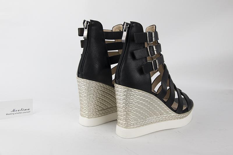 Gladiator Shoes, Women's Platform Wedges, High Heel Sandals, Rome Ladies Wedge Heels 17