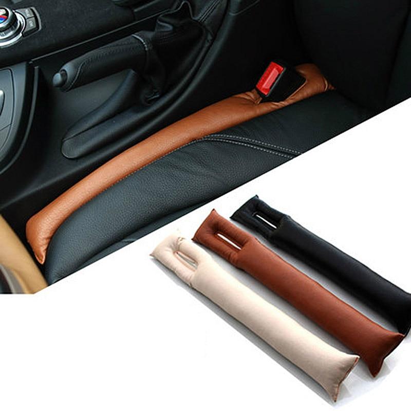 Universal Fit PU Leather Seat Organizer TeKX Car Seat Gap Filler Essential Anti Drop Seat Gap Filler Beige 2 Pack