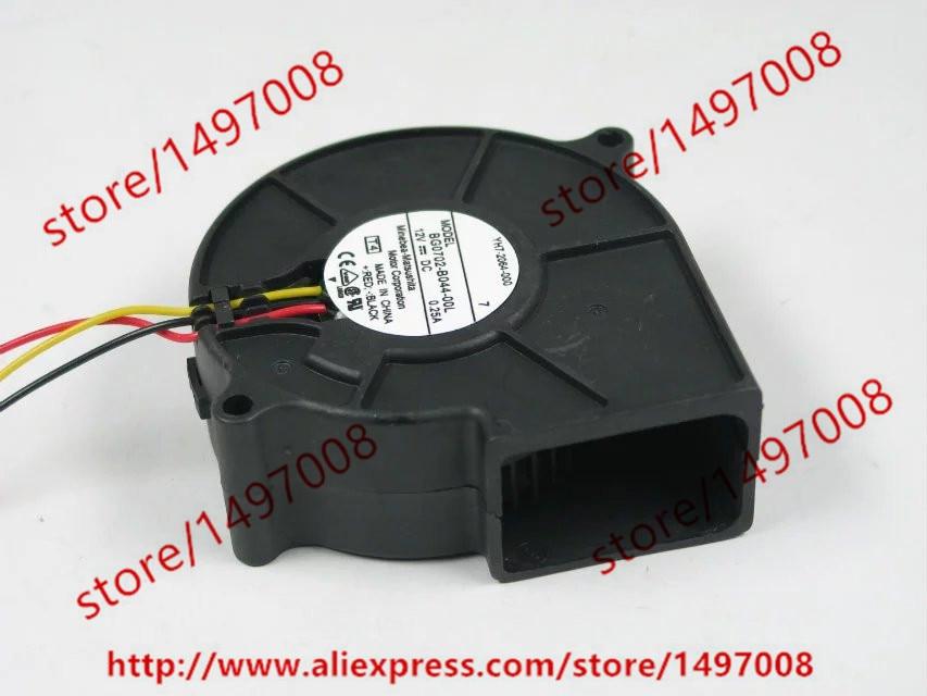 Free Shipping For   NMB BG0702-B044-00L, T4 DC 12V 0.25A, 75x75x25mm 3-wire 3-pin connector 50mm  Server Blower cooling fan накладной светильник preciosa brilliant 25 0702 001 07 00 04 35