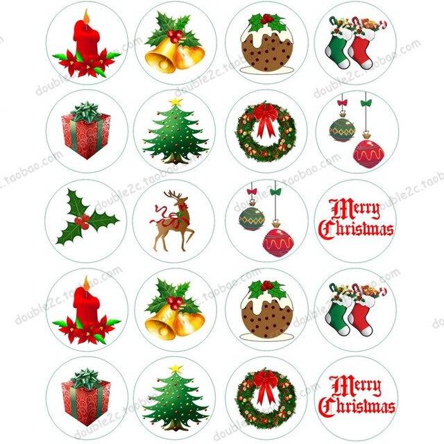 oblea de papel para pasteles unids mezcla decoracin de navidad hoja de