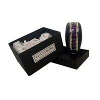 LUNASBORE fashion top quality handmade Genuine leather+metal+crystal diamonds universal Gear Manual Shift Knob car styling